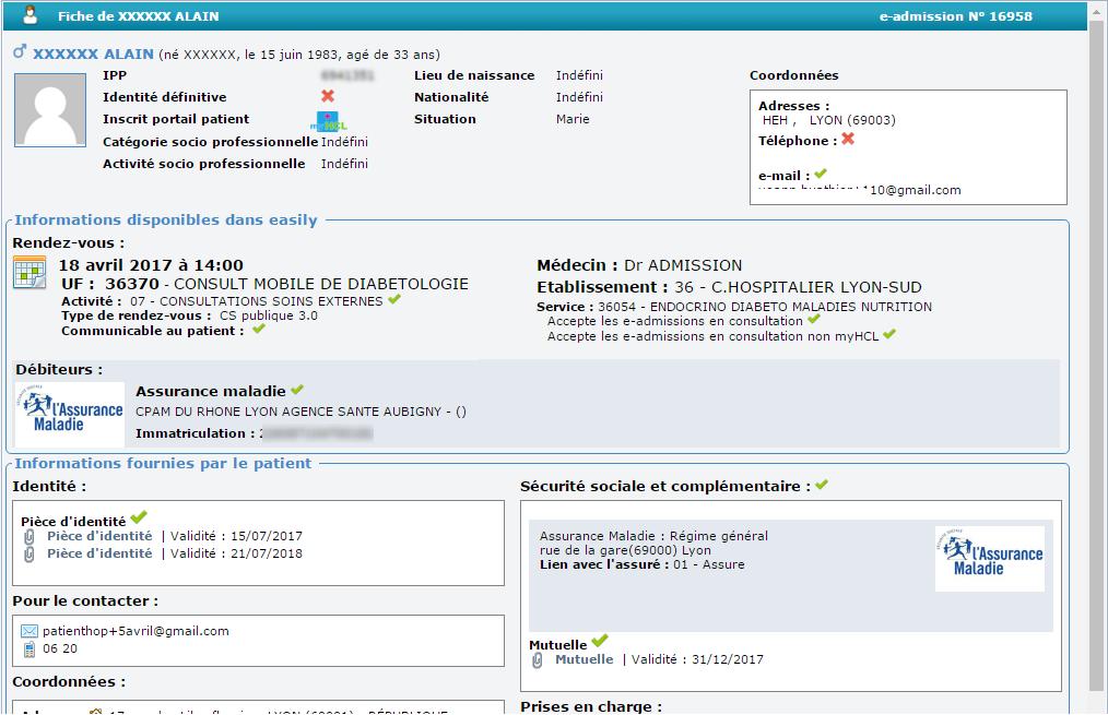 e-admission avec ViaPatient