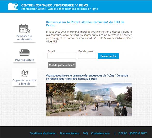 MonDossierPatient-CHU de Reims